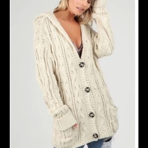 POL Cable Knit Cardigan